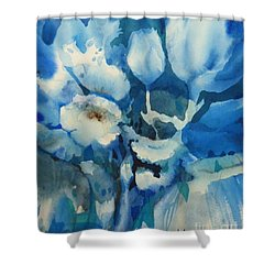 Balade Nocturne Shower Curtain by Donna Acheson-Juillet