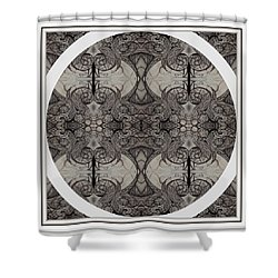 Balance Expressed In Black And White Shower Curtain