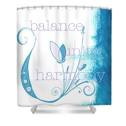 Balance Shower Curtain by Kandy Hurley