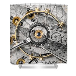 Balance Wheel Of An Antique Pocketwatch Shower Curtain