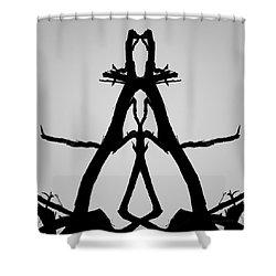 Balanced I Bw Shower Curtain