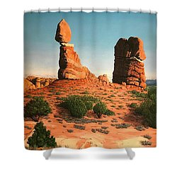 Balanced Rock At Arches National Park Shower Curtain