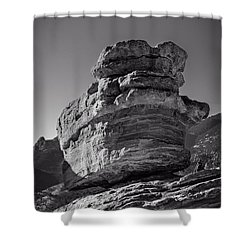 Balanced Rock Shower Curtain by Charles Dobbs