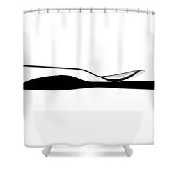 Shower Curtain featuring the photograph Balancing Spoon by Gert Lavsen
