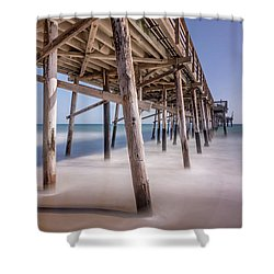Shower Curtain featuring the photograph Balboa Pier by Jeremy Farnsworth
