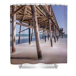 Balboa Pier Shower Curtain by Jeremy Farnsworth
