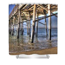 Balboa Pier Pylons Shower Curtain