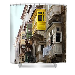 Balconies Of Valletta 1 Shower Curtain