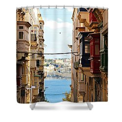 Balconies Of Valletta 2 Shower Curtain