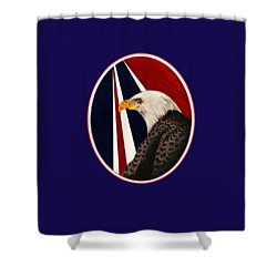 Bald Eagle T-shirt Shower Curtain