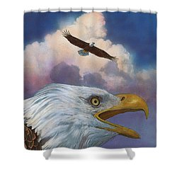 Bald Eagles Shower Curtain