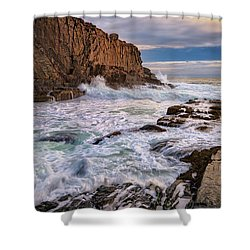 Bald Head Cliff Shower Curtain by Rick Berk