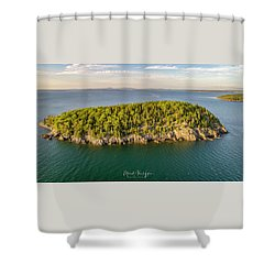 Bald Pocupine Island, Bar Harbor Shower Curtain