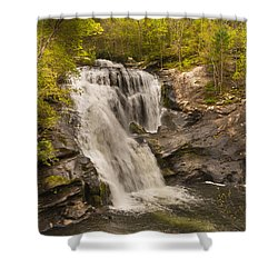 Bald River Falls Spring Shower Curtain