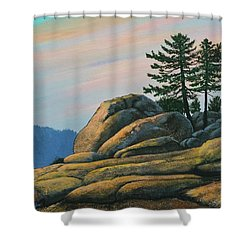 Bald Rock At Sunset Shower Curtain