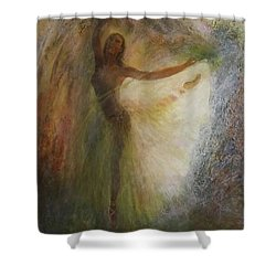 Ballet Dancer's Silhouette Shower Curtain
