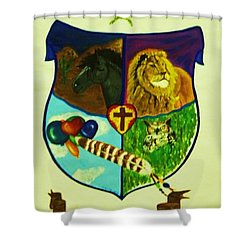 Balestar Crest Shower Curtain by Jamey Balester