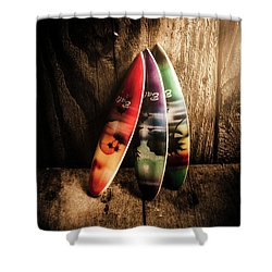 Bali Beach Surf Holiday Scene Shower Curtain