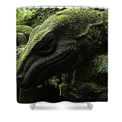 Bali Indonesia Lizard Sculpture Shower Curtain by Bob Christopher
