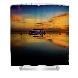 Bali Sunrise 3 Shower Curtain