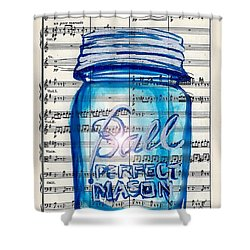 Ball Mason Jar Classical #168 Shower Curtain by Ecinja