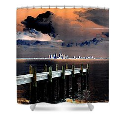 Ballast Point Shower Curtain by David Lee Thompson