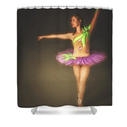 Shower Curtain featuring the photograph Ballerina  ... by Chuck Caramella