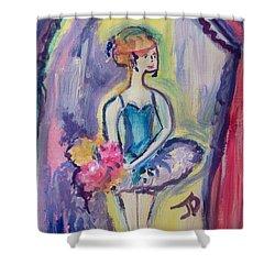 Ballerina Bouquet Shower Curtain by Judith Desrosiers