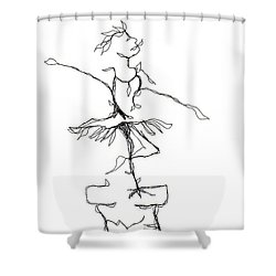 Ballerina- Cracked Pot Shower Curtain