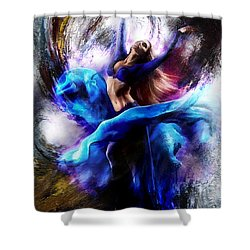 Ballerina Dance009-a Shower Curtain by Gull G