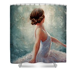 Ballerina Dazzle Shower Curtain by Michael Rock