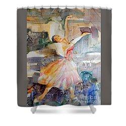 Ballerina In Motion Shower Curtain