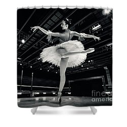 Shower Curtain featuring the photograph Ballerina In The White Tutu by Dimitar Hristov