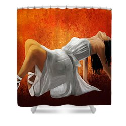 Ballerina In White Shower Curtain