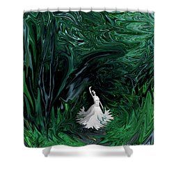 Shower Curtain featuring the photograph Ballerina In Wonderland by Rebecca Margraf
