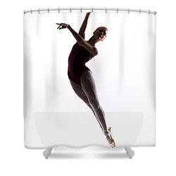 Ballerina Jump Shower Curtain by Steve Williams