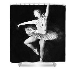 Shower Curtain featuring the photograph Ballerina  No. 2   ... by Chuck Caramella