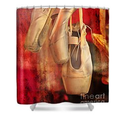Ballerina Shoes Shower Curtain
