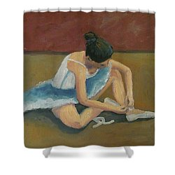 Ballerina Shower Curtain by Susan  Spohn