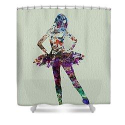 Ballerina Watercolor Shower Curtain by Naxart Studio
