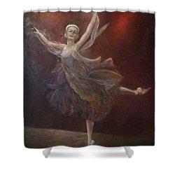 Ballet Dancer Anna Pavlova Shower Curtain
