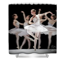 Shower Curtain featuring the photograph Ballet Dancer Dance Photography Long Exposure by Dimitar Hristov