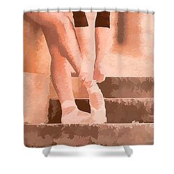 Ballet Shoes Shower Curtain