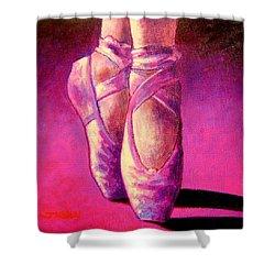 Ballet Shoes  II Shower Curtain by John  Nolan