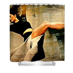 Ballet Windows Shower Curtain by Diana Angstadt