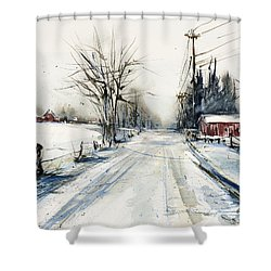 Ballina Road Shower Curtain by Judith Levins