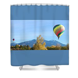 Ballons At Taos Mountain Shower Curtain