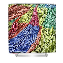 Balloon Abstract 1 Shower Curtain by Marie Leslie