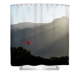 Balloon At Sunrise Shower Curtain