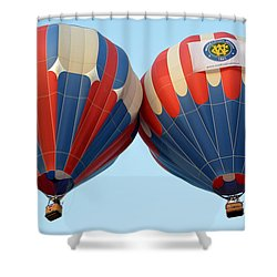 Shower Curtain featuring the photograph Balloon Bump by AJ Schibig